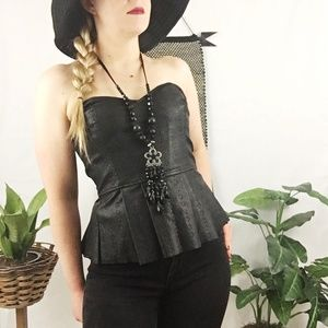 NWT Dolce Vita faux leather bustier S